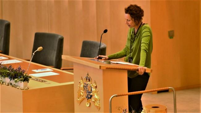 Christina Höj Larsen (V). Foto: Nyheter Idag