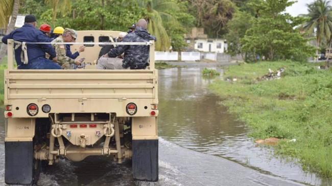 Nationalgardet på Puerto Rico inspekterar skador efter Irma. Foto: Nationalgardet