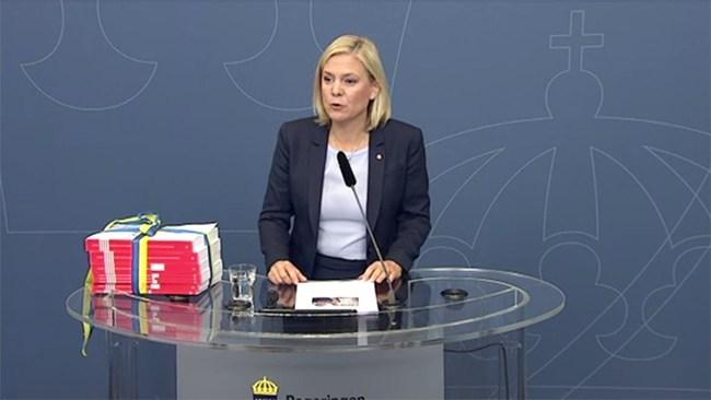 Bidragsregn över Sverige i regeringens nya budget