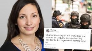 """Nikolina Bucht överväger hoppa av som polis – """"det blir pannkaka av allt"""""""