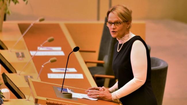 Migrationsminister Helene Fritzon (S). Foto: Nyheter Idag
