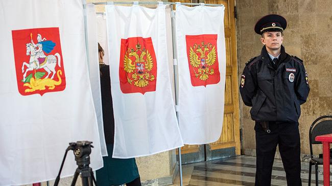 En vallokal i Ryssland. Foto: Nyheter Idag