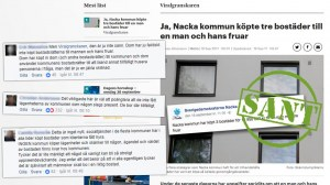 """""""Viralgranskaren"""" ger SD rätt om att Nacka köpte bostäder för 14 miljoner till nyanländ familj – Metro-läsare rasar"""