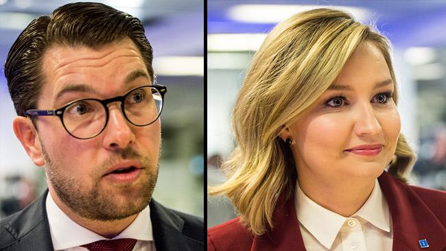 Jimmie Åkesson (SD) och Ebba Busch Thor (KD). Foto: Nyheter Idag