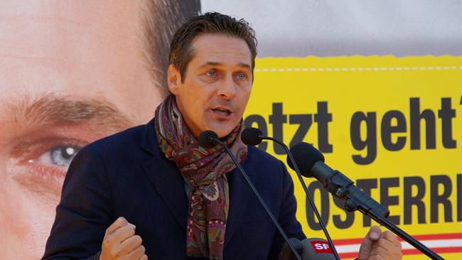 Partiledare för FPÖ, Heinz-Christian Strache. Foto: WIkimedia commons