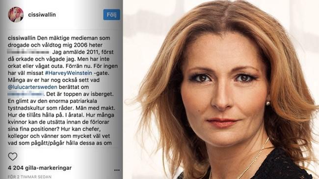 Fler bör träda fram likt Cissi Wallin – En känd mediaprofil ska inte komma undan med våldtäkt