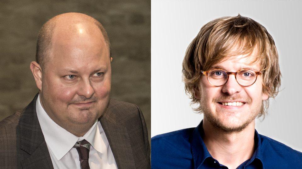 Thomas Matsson och Axel Andén. Foto: Nyheter Idag/Medievärlden