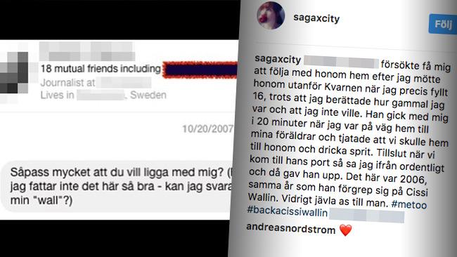 Ännu en berättelse om mediemannens beteende mot unga flickor. Foto: Faksimil Instagram