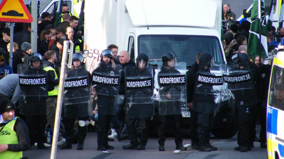 Nazistiska NMR i Göteborg. Foto: Tokigt