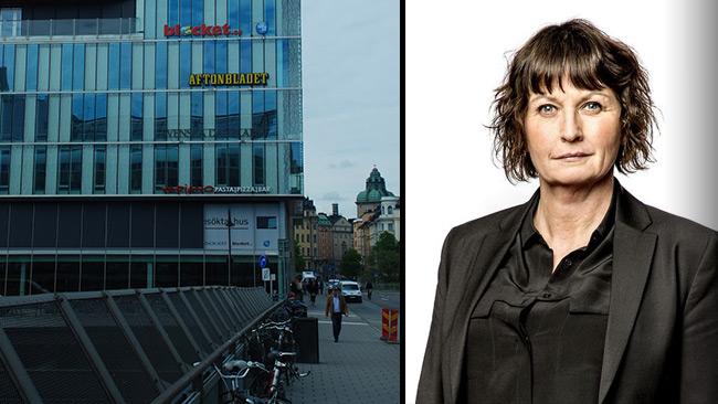 Aftonbladets publisher Sofia Olsson Olsén. Foto: Nyheter Idag samt pressbild