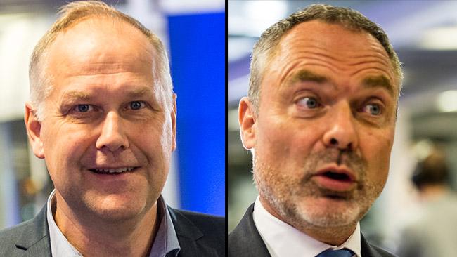 Jonas Sjöstedt (V) och Jan Björklund (L). Foto: Nyheter Idag