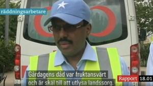 """SVT:s tabbe: Somalias president blev """"räddningsarbetare"""" i Rapport"""
