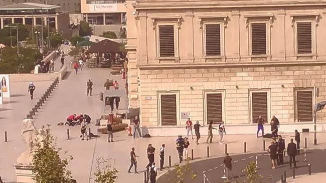 En av bilderna som påstås vara tagen efter attacken.