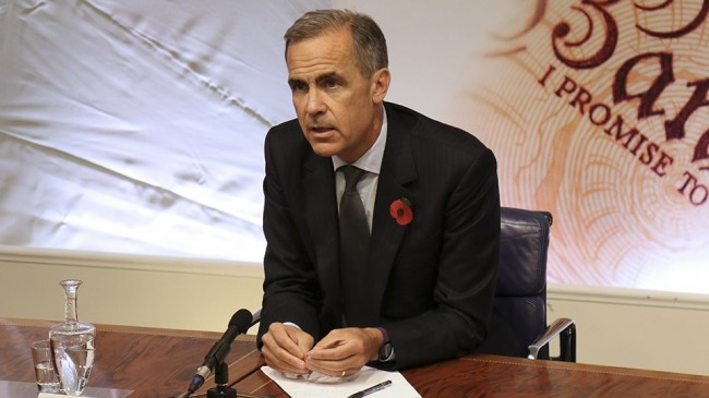 Mark Carney är direktör för Bank of England. Foto: Bank of England