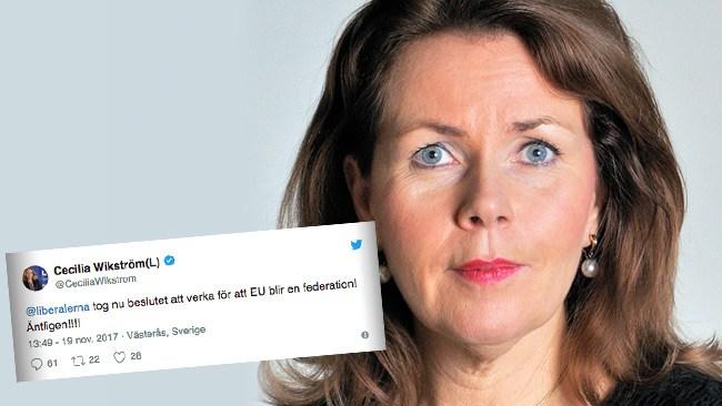 Liberalernas offensiva beslut: Ska verka för att ge upp Sveriges självständighet