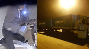 Här plundras Postnords lastbil på motorvägen i 80 km/h – nu åtalas fyra EU-migranter