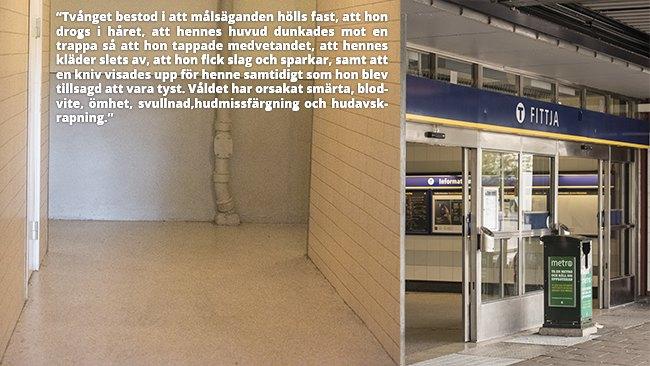 Här våldtogs kvinnan. Foto: Nyheter Idag