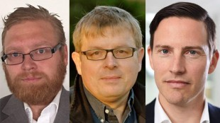 Edward Nordén, Håkan Palm och Ilan Sadé.