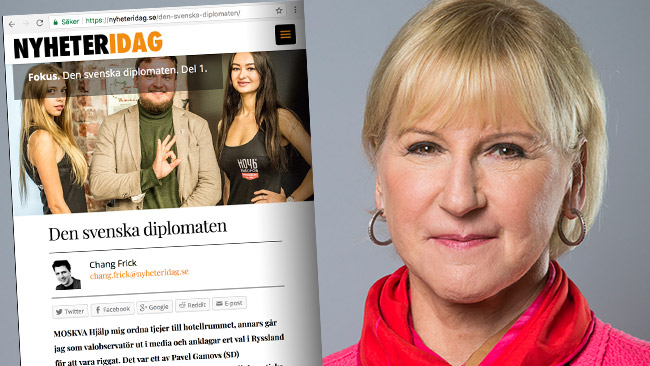 Utrikesministern kommenterar nu uppgifterna i Nyheter Idag-reportaget. Foto: Kristian Pohl/Regeringskansliet