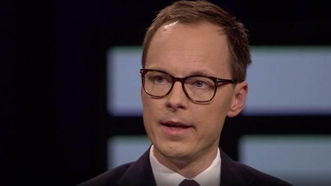 Mats Persson (L) i SVT Agenda. Foto: svtplay.se