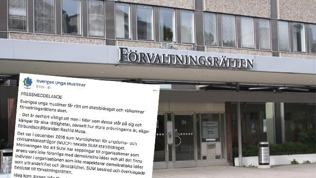 Sveriges Unga Muslimer vinner i förvaltningsrätten - Har rätt till statsbidrag trots rapport om kopplingar till Muslimska brödraskapet
