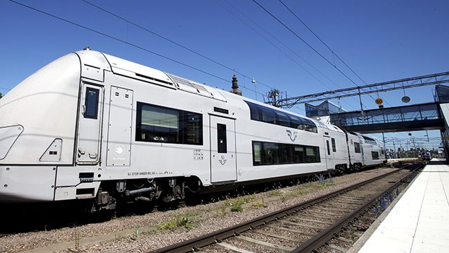 Tåg vid Västerås Central. Foto: Stefan Nilsson/SJ