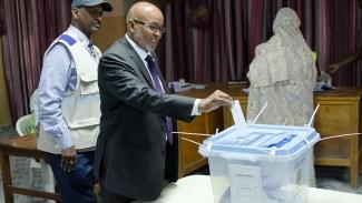 Presidenten och presidentkandidaterna röstar