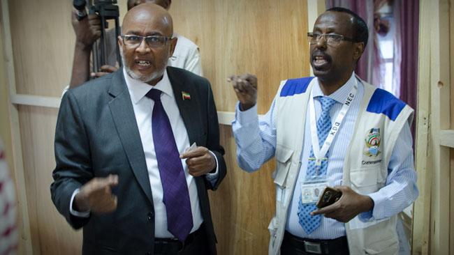 T.v Abdirahman Mohamed Abdullahi Irro, Waddanis kandidat. Foto: Nyheter Idag