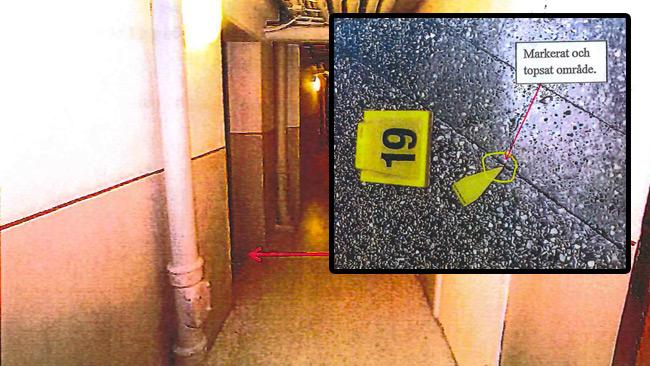 Bilder ur polisens förundersökningsprotokoll.