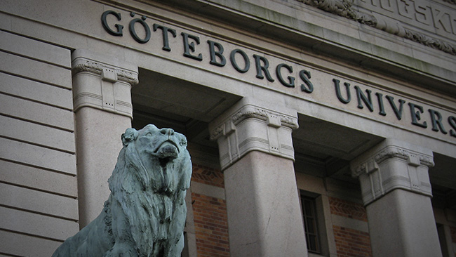Lejonen är just nu tysta på Göteborgs universitet. Foto: Pressbild GU