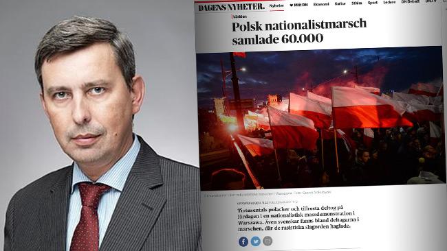 Ambassadör Wiesław Tarka och en av DN-artiklarna.