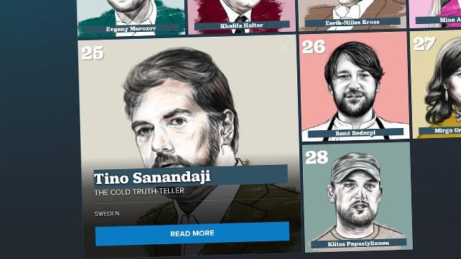 Tino Sanandaji utses till en av Europas viktigaste röster i Politicos prestigelista