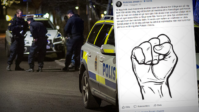 Foto: Nyheter Idag & Faksimil Facebook
