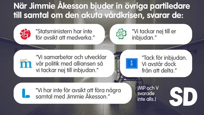 Bilden är tagen från Sverigedemokraternas Facebooksida.