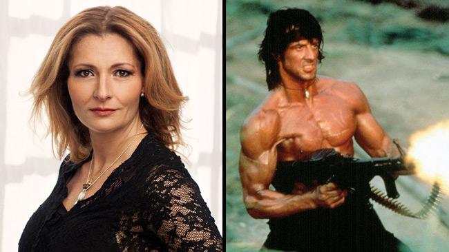 Janouch gillar idén av att bli räddad av en muskulös inoljad Rambo-militär.