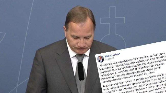 """Stefan Löfven pudlar om att sätta in militär i förorten: """"Att låta Försvarsmakten överta polisens uppgifter är inte aktuellt"""""""