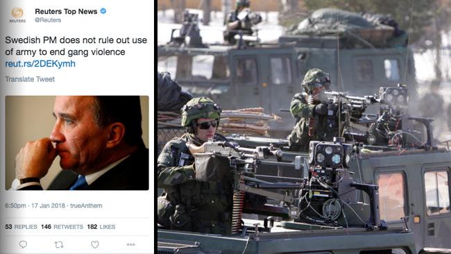 Nu sprids nyheten internationellt. Foto: Twitter samt Mats Carlsson / Försvarsmakten