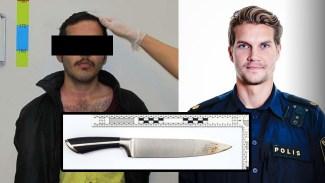 Efter knivattacken från den ensamkommande afghanen - Polisen Ted Eriksson lämnar Stockholm
