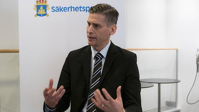 Foto: Nyheter Idag Daniel Stenling, chef för enheten för statliga aktörer