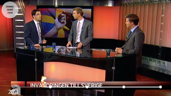 Jimmie Åkesson i MSB:s övningsfilm. Foto: Youtube