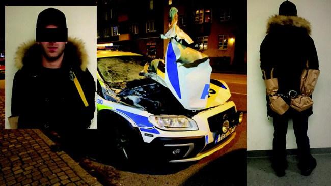 Förhördes först som vittne: Blev sedan misstänkt för att ha sprängt polisbil i Malmö