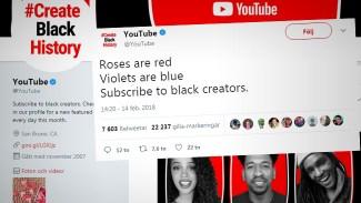 Youtubes uppmaning: Prenumerera på personer med svart hudfärg