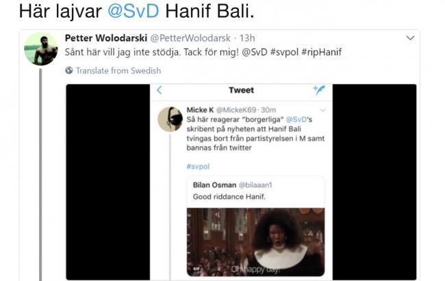 """""""Good riddance Hanif"""" – Bilan Osman raderar Twitter-inlägg och ber om ursäkt"""