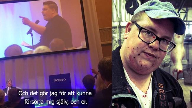 Förbannad kommunistisk slaktare intog talarstolen på Nordeas bolagsstämma