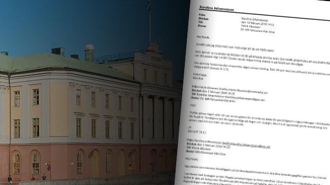 Här är Oksanen-mejlen som Nyheter Idag begärde ut från Utrikesdepartementet