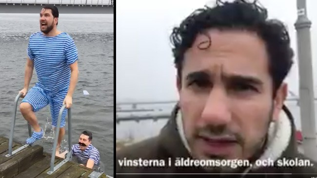 """""""En tillfällighet"""": SD anklagar civilministern för att smygfilma Åkessons vinterbad"""