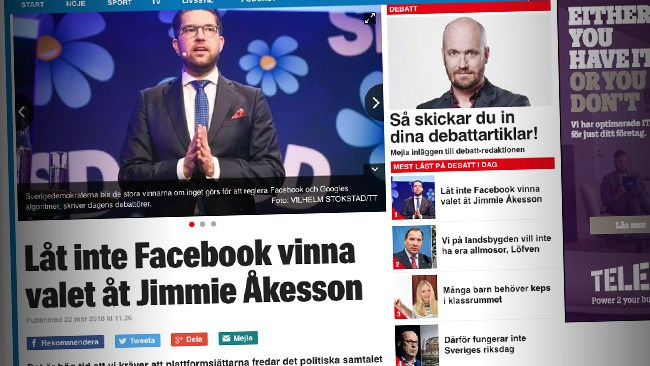 Nya kravet i Expressen: Blockera SD från Facebook