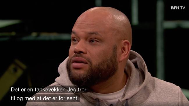Ken Ring i norsk tv. Foto: tv.nrk.no