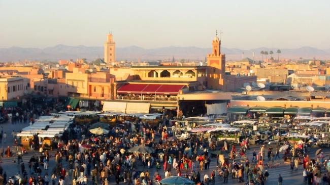 Marknad i Marrakesh. Foto: Donar Reiskoffer (Wikimedia commons)