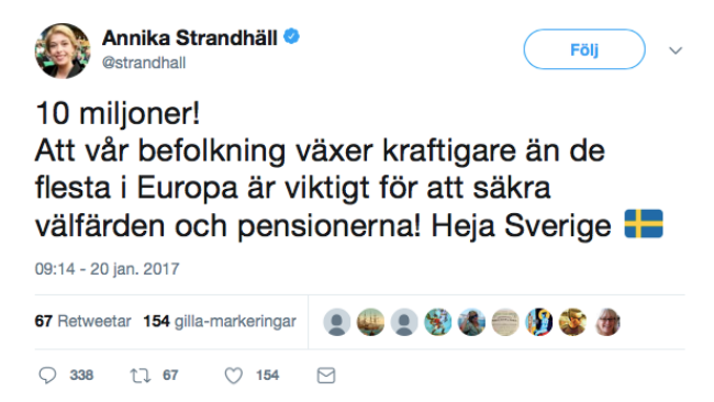 Foto: Skärmdump Twitter